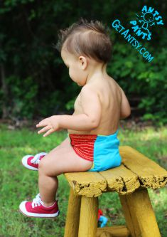Antsy Pants™ are cloth diapers, optimized for toddlers