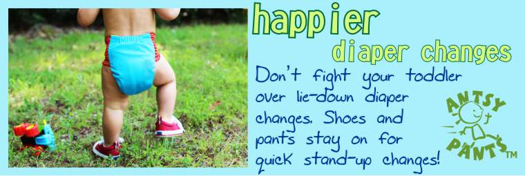 Happier Diaper Changes - Pants and Shoes Stay On